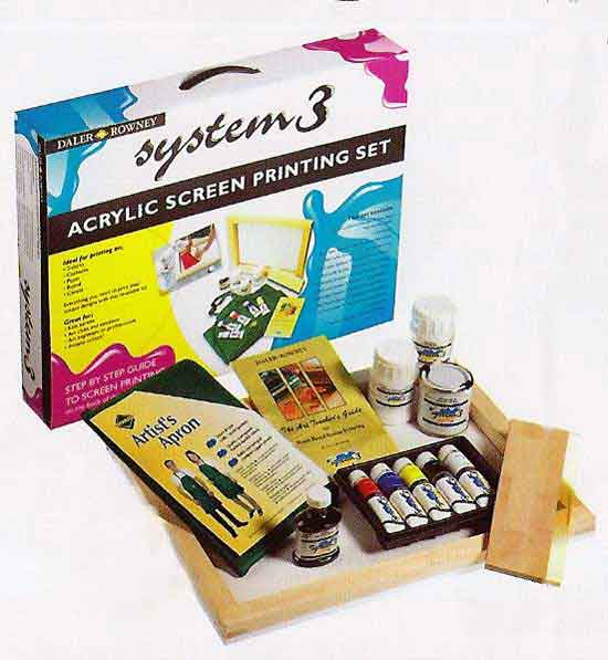 System 3 acrylic screen printing set kit